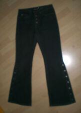 INSCENE Damen Jeans-Schlaghose Größe 36 in Schwarz mit viele Nieten Knöpfe