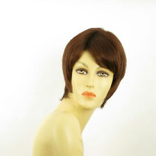 short wig for women dark brown copper ref OCEANE 31 PERUK