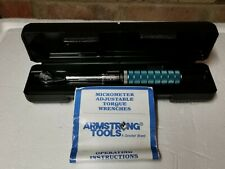 Armstrong Micrometer Torque Wrench part no. 64-031- 5-50 IN/LB - MADE IN USA