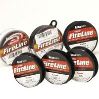 Beadsmith Fireline Beading Thread,4,6,8 lbs, crystal, smoke, 50 yard. FREE SHIP