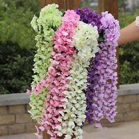 NEW Artifical Hydrangea Silk Ivy Vine Flower Hanging Garland Home Wedding Decor