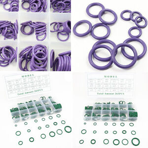 265 x HNBR Car SUV A/C System Air Conditioning O Ring Seals Assortment Set Tools