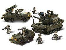 Sluban Battaglia dell'Esercito Forze Set serbatoio JEEP anti-Aerei Militari nella creazione di blocchi