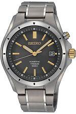 SEIKO SKA495P1,Men KINETIC,TITANIUM Case & Bracelet,Date,NEW,100m WR,SKA495
