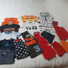 Boys 16 Pce Clothing Lot - Hilfiger, Gap, Polo, Place, Gymboree Size 12-18 Mths