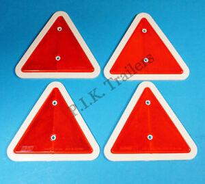 Triangle Reflectors for Driveway Posts, Garden Walls, Trailer Caravan Horse Box