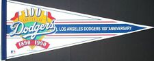"Vintage Los Angeles Dodgers 100th Anniversary Pennant - 12"" x 30"""