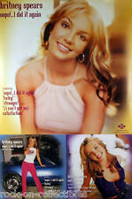 BRITNEY SPEARS 2000 OOPS LARGE PERFORATED DOUBLE SIDED PROMO POSTER ORIGINAL