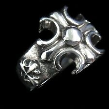 NEW Christian Cross Silver Gothic Rock Biker Silver Ring for Harley Motor TR112