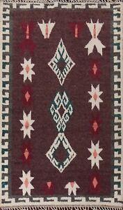 Geometric Moroccan Berber Oriental Area Rug Hand-knotted Plush Wool Carpet 6x9