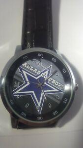Dallas Cowboys NFL Custom Leather Band Wrist Watch