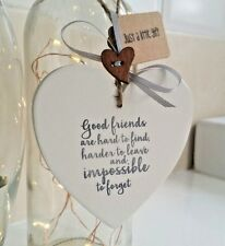 Friendship Gift Plaque Sign 'Friends are Hard to find'  Handmade Heart