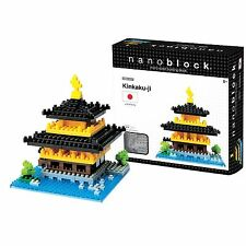 Kinkaku-Ji Temple Nanoblock Miniature Building Blocks New Sealed Pk NBH011