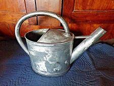 Ancien arrosoir de jardin en zinc/fer blanc-10 litres-fonctionnel-fait à la main