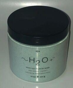 Unsealed H2O PLUS MINT ICE MUSCLE SOAK 16oz (454g) Bath Salts Soak