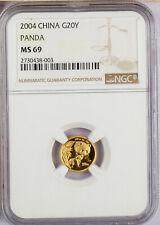 2004 China 1/20 oz. 20 Yuan       Gold Panda NGC MS69