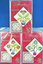 3 of 12 Floral Quilt Pattern Blocks 'Flourishes',Piece of Cake Designs