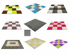 9 pcs Interlocking Floor Mats Carpet Tiles Plush Foam Square Mats for Bed Room