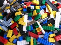 LEGO ca. 300 Basic Steine Mix Grundbausteine Classic Set hoch bunt Dach Dächer