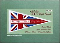 Royale Antenna Pennant Flag - LAMBRETTA UJ GLORY NEVER FADES - FP1.0138