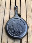 """Lodge Cast Iron 6.5"""" Wildlife Series Wolf Skillet Made In The USA"""