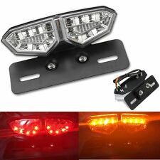 Motorcycle Clear 18 LED Brake Tail Turn Signal License Plate Integrated Light