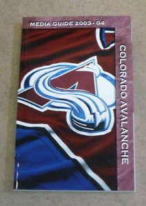 COLORADO AVALANCHE  NHL HOCKEY MEDIA GUIDE - 2003 2004  - NEAR MINT