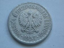 Xo1857. 1 zl zloty 1957 Polen Polska Polonia