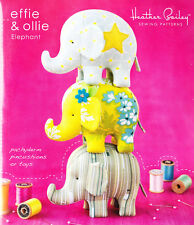 PATTERN - Effie & Ollie Elephant - pincushion or toy PATTERN - Heather Bailey