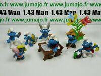 LOT3 Figurine PVC schleich : 7 SCHTROUMPF smurf puffi pituffo
