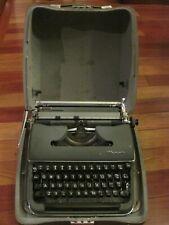 Vintage OLYMPIA SM3 Manual Portable Typewriter w/ Hard Case Very Nice