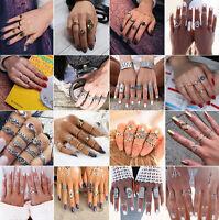 49 Styles Women Vintage Bohemian Turquoise Finger Rings Knuckle Ring Set Gift