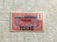 TCHAD stamp 1924 1 cent  French Colony UNC