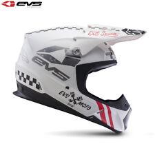 New Adult S 55-56cm 2017 EVS T5 Fury Helmet Matte White Motocross Enduro Small