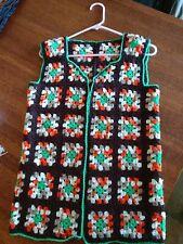 size S-M Retro Vest 80/'s Clothing White Vest Vintage Women/'s Vest Hand Crochet Vest