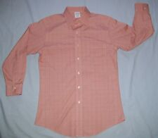 Brooks Brothers Classic Non Iron Supima Cotton Dress Shirt 15-32 Orange Plaid