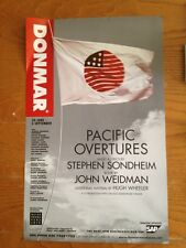 PACIFIC OVERTURES Window Card Poster Donmar London STEPHEN SONDHEIM  --MINT