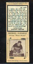 1936-39 Diamond Matchbook Hockey Type 4  Michael Karakas  Black Hawks  LOOK !!