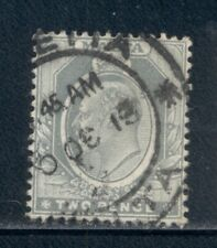 MALTA 34 SG51 Used 1911 2p gry KEVII Wmk Mult Crown CA Cat$7