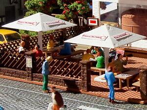 Vollmer 45138 H0 Biergarten-Schirme, 4 Stück