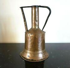 Large Hand Forged Ewer Water Jug Copper Vintage Pitcher Handled Primitive Patina
