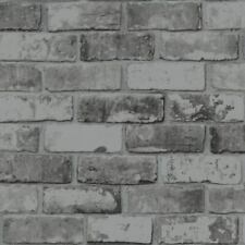 Debona 6753 Brick Design Wallpaper - Slate Grey