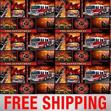 "Fire Firefighter Fighters Firemen Department Fleece 60"" Width Free Shipping 1425"