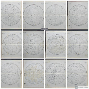 A rare full set of 12 Charts of the Visible Stars by R A Proctor c1870