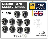 Mini Delrin Solid V Wheel C-beam V-Slot Extrusion Profile Rail 3D Printer CNC UK