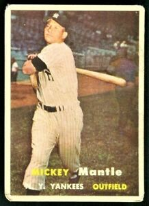 1957 TOPPS MICKEY MANTLE New York Yankees #95