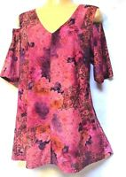 MOTTO top Jersey Bell plus sz 16 - 18 (S) drape sexy cold shoulder stunning NWT!