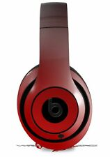 Skin for Beats Studio 2 3 Smooth Fades Red Black HEADPHONES NOT INCLUDED