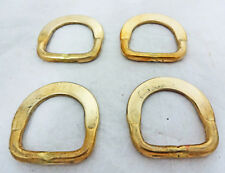 "Lot of 4 Solid Brass Saddle Breast Collar Dees 1"" Horse Tack Hardware Rigging"