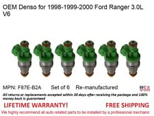 6 Fuel Injectors for 1998-2000 Ford Ranger 3.0L V6 OEM Denso #F87E-B2A